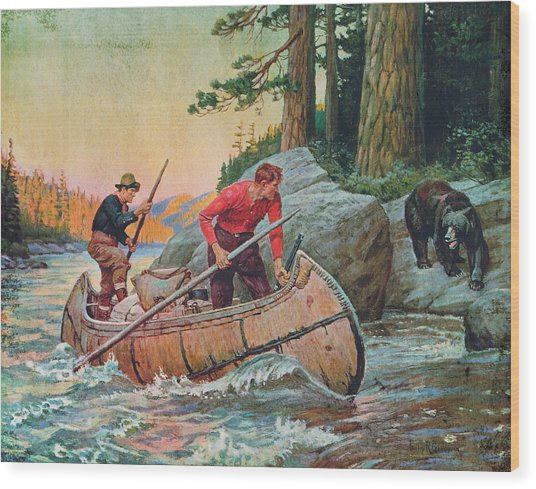 Adventures On The Nipigon Wood Print