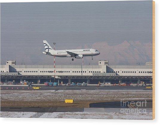 Aegean Airbus A320 003 - Sx-dvt Wood Print