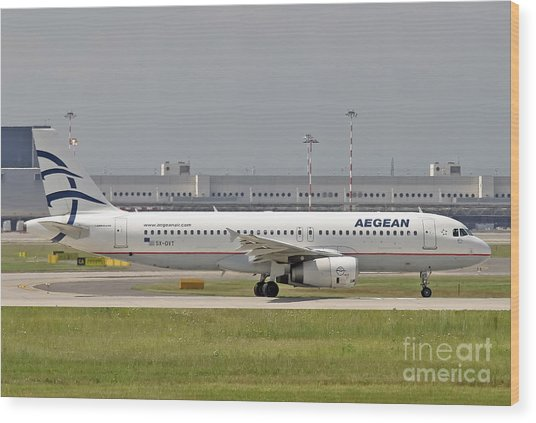 Aegean Airbus A320 Sx-dvt  Wood Print