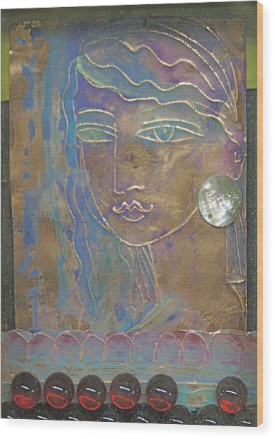 Aegean Princess Wood Print by Trish Marcum