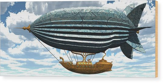 Aerial Alchemy Wood Print by Diana Morningstar