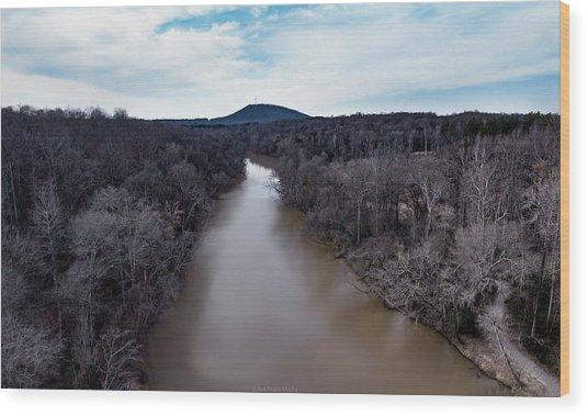 Aerial River View Wood Print