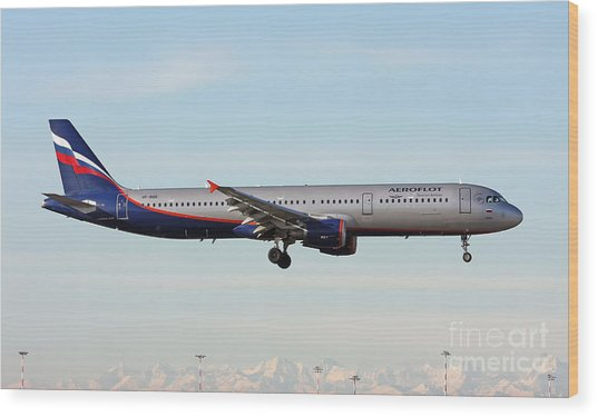Aeroflot - Russian Airlines Airbus A321-211 Wood Print