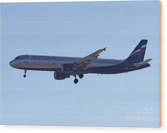 Aeroflot - Russian Airlines Airbus A321-211 - Vq-bhk Wood Print