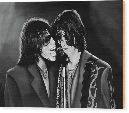 Aerosmith Toxic Twins Mixed Media Wood Print