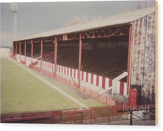 Afc Bournemouth - Dean Court - Se Main Stand 1- Late 1970s Wood Print