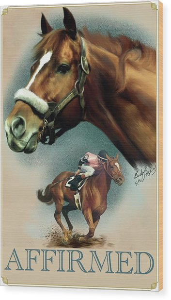 Affirmed With Name Decor Wood Print
