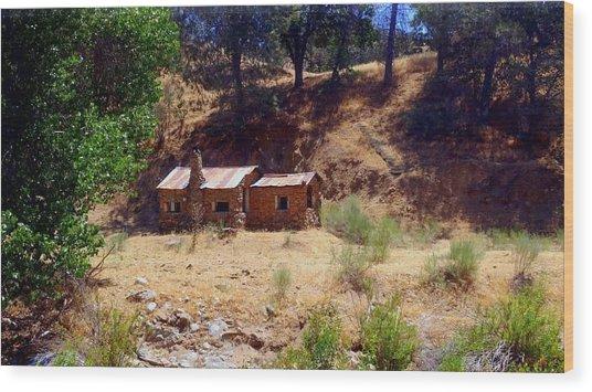 Cozy Cabin Kern County California Wood Print