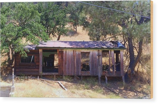 Cozy Cottage Kern County Wood Print