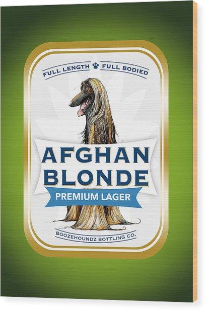 Afghan Blonde Premium Lager Wood Print