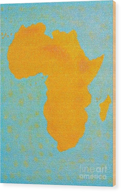 Africa No Borders Wood Print
