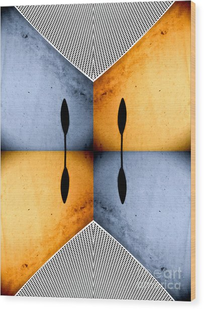African Abstract Wood Print by Emilio Lovisa