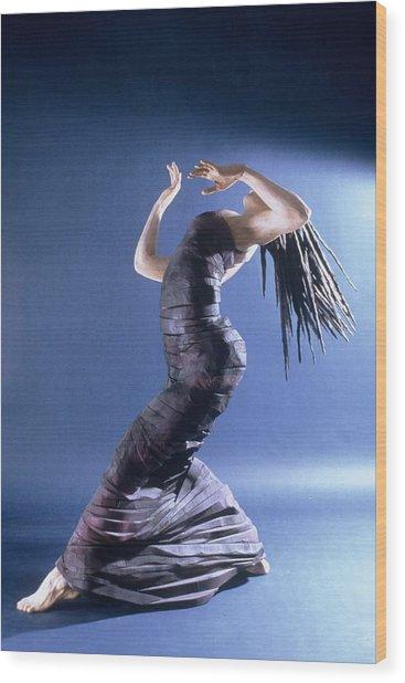 African Dancer Left View Wood Print by Gordon Becker