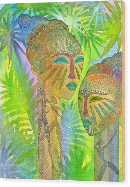 African Forest Queens Wood Print by Jennifer Baird