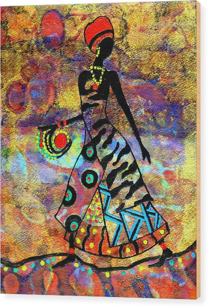 African Healer New Color Wood Print