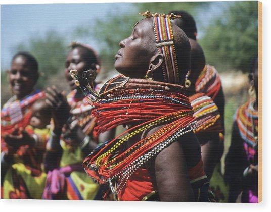 African Rhythm Wood Print