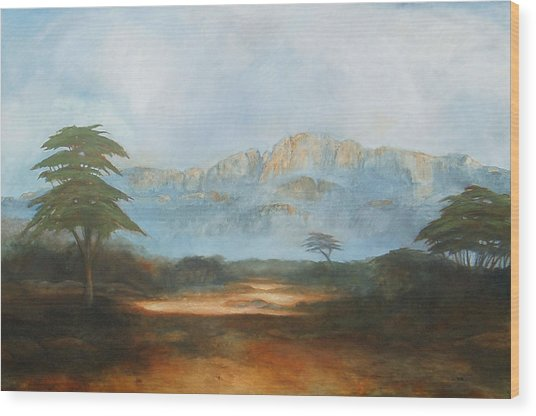 African Riverbed Wood Print by William Stanton