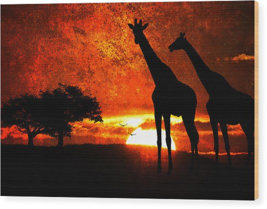 African Safari Wood Print