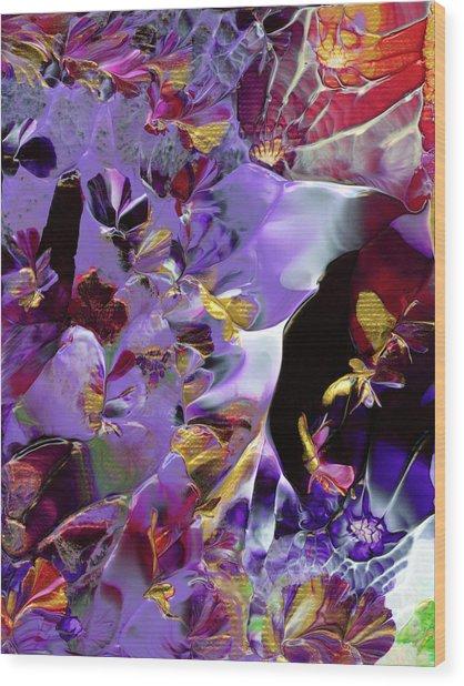African Violet Awake #2 Wood Print
