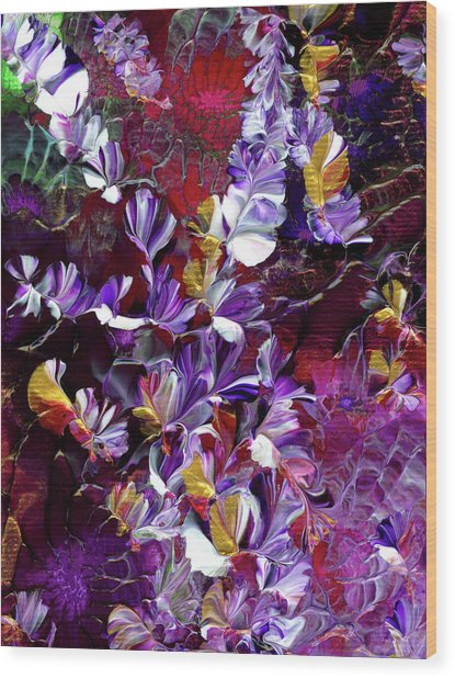 African Violet Awake #4 Wood Print