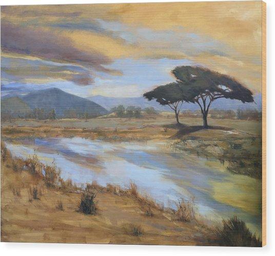 African Vista Wood Print