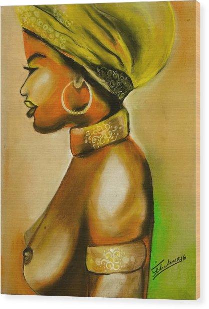 African Woman Wood Print