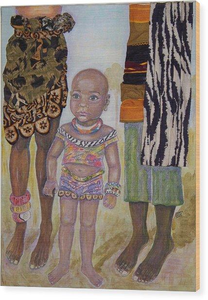 Afrik Girl Wood Print