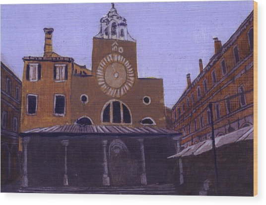 After Campo San Giacometto Wood Print by Hyper - Canaletto