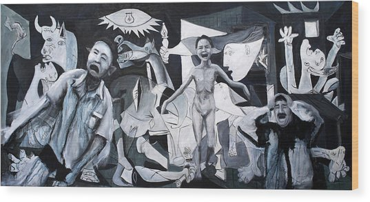 After Guernica Wood Print by Michelle Barone