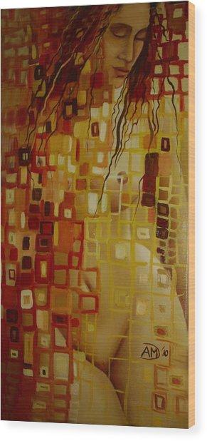After Hanging Wood Print by Ana-Maria Dragomir Cioroiu