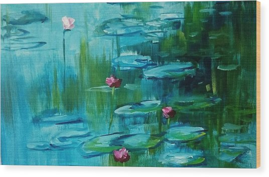 After Monet Wood Print