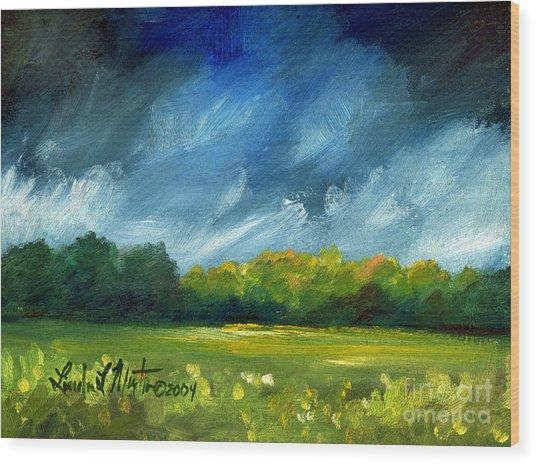 After Spring Rain Wood Print