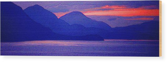 After Sunset Mountains 5 Pd Wood Print by Lyle Crump