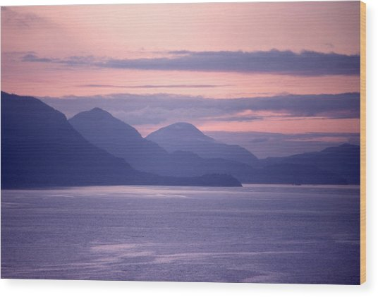 After Sunset Mountains 62 Wood Print by Lyle Crump