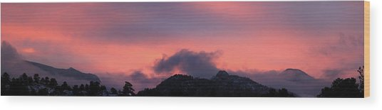 After Sunset - Panorama Wood Print