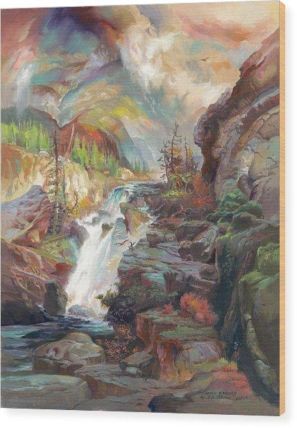 After T. Moran Wood Print