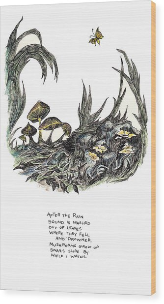 After The Rain Wood Print by Lily Hymen