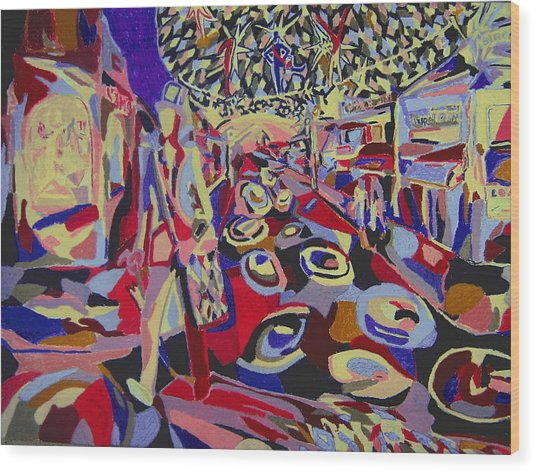 After The Show  Wood Print by Tadeush Zhakhovskyy