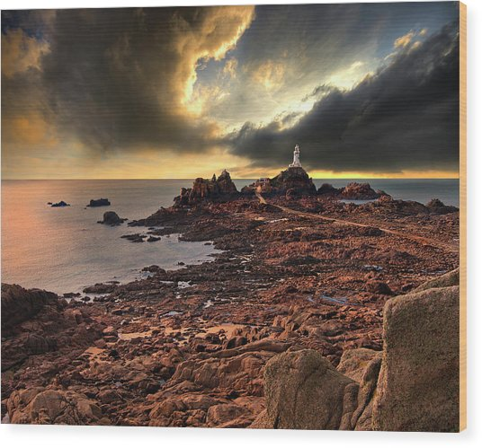 after the storm at La Corbiere Wood Print