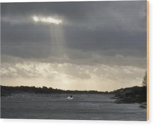After The Storm Wood Print by Dan Andersson
