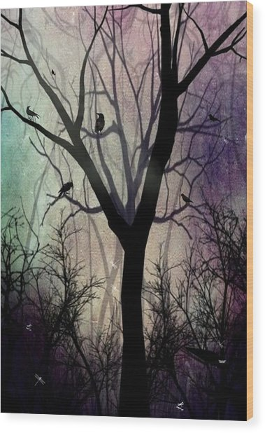 After Twilight Wood Print by Charlene Zatloukal