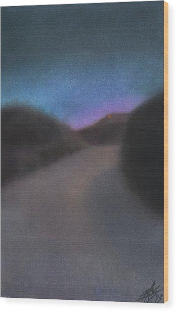 Afterglow Wood Print by Robin Street-Morris