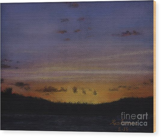 Afterglow Wood Print