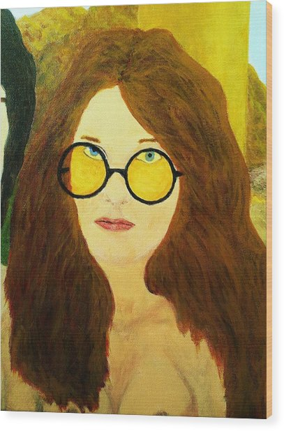 Afterlife Concerto Janis Joplin Wood Print
