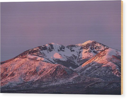 Wood Print featuring the photograph Afternoon Alpenglow On South Mountain by Deborah Hughes