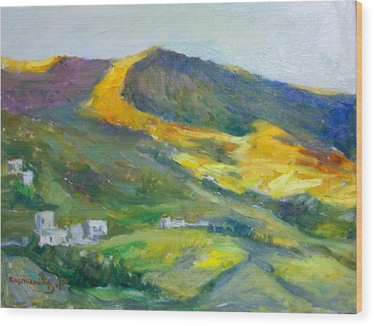 Afternoon Amorgos Wood Print by George Siaba