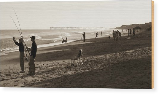 Afternoon At The Shore Wood Print