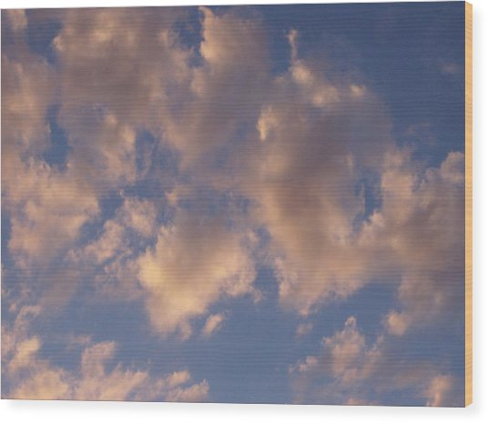 Afternoon Clouds Wood Print by Susan Pedrini
