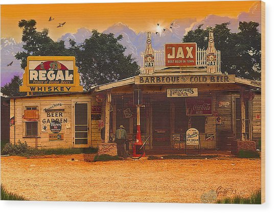 Afternoon In Melrose La Circa 1940 Wood Print