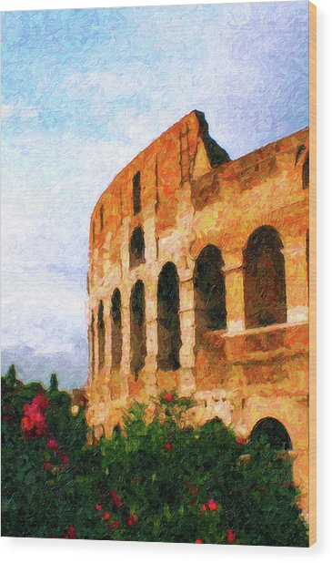 Afternoon In Rome Wood Print